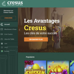 Crésus Casino : Un très bon portail